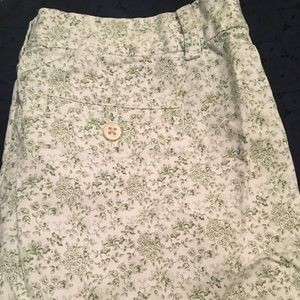 Floral J. Crew shorts